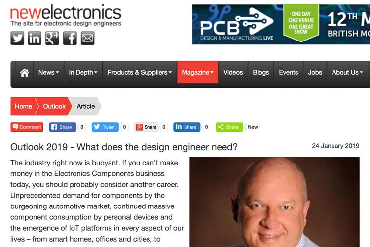Electronics client, UK media